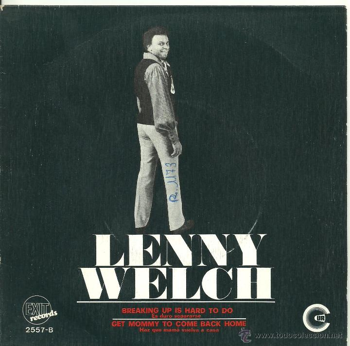 Image result for lenny welch breaking up is hard to do single images