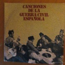 Discos de vinilo: CANCIONES DE LA GUERRA CIVIL ESPAÑOLA-AY CARMELA,SOY EL NOVIO DE LA MUERTE Y 2 MAS. Lote 46397345