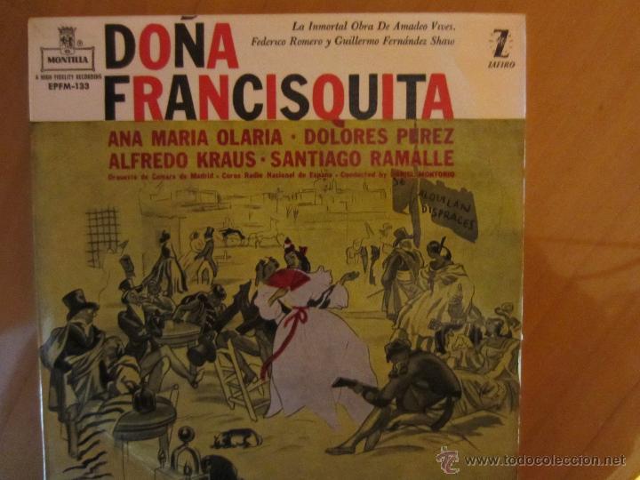 DOÑA FRANCISQUITA- ALFREDO KRAUS/ANA Mª OLARIA/DOLORES PEREZ- ORQ.CAMARA MADRID-COROS R.N.E.-ZAFIRO (Música - Discos de Vinilo - Maxi Singles - Clásica, Ópera, Zarzuela y Marchas)