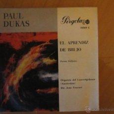Discos de vinilo: PAUL DUKAS- EL APRENDIZ DE BRUJO-ORQ. CONCERTGEBOUW DE AMSTERDAM-PERGOLA 1966. Lote 46398262
