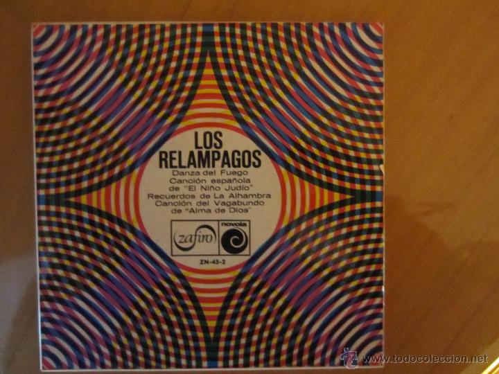 LOS RELAMPAGOS- DANZA DEL FUEGO Y OTRAS- ZAFIRO 1966 (Música - Discos de Vinilo - Maxi Singles - Grupos Españoles 50 y 60)