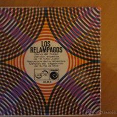 Discos de vinilo: LOS RELAMPAGOS- DANZA DEL FUEGO Y OTRAS- ZAFIRO 1966. Lote 46398840