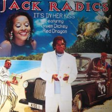 Discos de vinilo: JACK RADICS FEAT GWEN DICKEY & RED DRAGON - IT'S IN HER KISS . MAXI SINGLE . 1996 DANCE POOL GERMANY. Lote 46398985