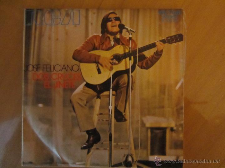 JOSE FELICIANO- DOS CRUCES- EL JINETE- RCA VICTOR 1971 (Música - Discos - Singles Vinilo - Cantautores Internacionales)