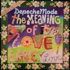 Discos de vinilo: DEPECHE MODE, THE MEANING OF LOVE MAXI-SINGLE. Lote 46408586