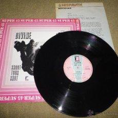 Discos de vinilo: DIVINE SHOOT YOUR SHOT / JUNGLE JEZEBEL MAXI SINGLE VINILO 1982 HECHO EN ESPAÑA + HOJA DE PRENSA. Lote 46410042