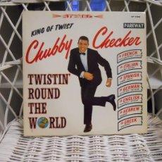 Discos de vinilo: CHUBBY CHECKER– TWISTIN' ROUND THE WORLD.LP ORIGINAL USA DE 1962 . Lote 46411478