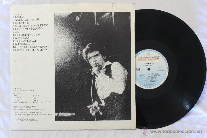 Discos de vinilo: TONY BERNAL MEDIA LAGRIMA LP VINILO SPAIN 1985 - Foto 2 - 46411626