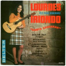 Discos de vinilo: LOURDES IRIONDO - KANTA ZAHARRAK - EP SPAIN 1968 - BELTER 52.207. Lote 46417617