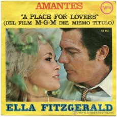 Discos de vinilo: ELLA FITZGERALD - AMANTES (A PLACE FOR LOVERS) - SN SPAIN 1969 - VERVE 58 142. Lote 46425529
