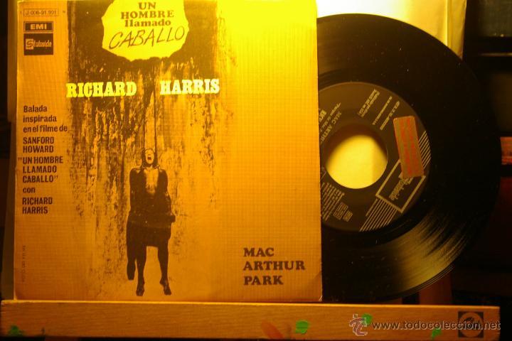 RICHARD HARRIS -UN HOMBRE LLAMADO CABALLO-MAC ARHUR PARK-PROMO- (Música - Discos - Singles Vinilo - Bandas Sonoras y Actores)