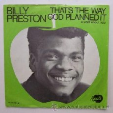 Discos de vinilo: BILLY PRESTON - THAT'S THE WAY GOD PLANNED IT. Lote 46442643