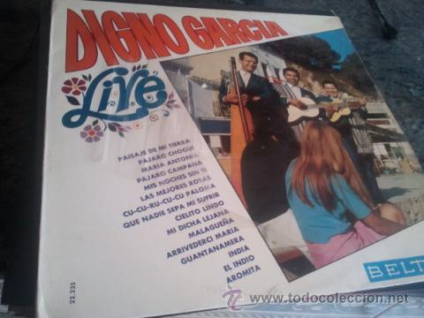 LP - DIGNO GARCIA - LIVE - ORIGINAL ESPAÑOL, BELTER 1968 (Música - Discos - LP Vinilo - Grupos y Solistas de latinoamérica)