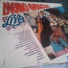 Discos de vinilo: LP - DIGNO GARCIA - LIVE - ORIGINAL ESPAÑOL, BELTER 1968. Lote 46451231