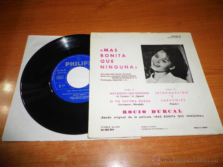 Discos de vinilo: ROCIO DURCAL Mas bonita que ninguna / Si yo tuviera rosas EP VINILO BANDA SONORA PHILIPS 1965 - Foto 2 - 46453482