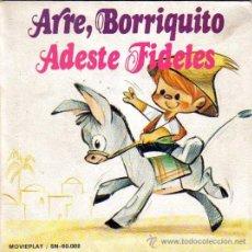 Discos de vinilo: VILLANCICOS,ARRE BORRIQUITO,ADESTE FIDELES,ORFEON INFANTIL ESPAÑA,MOVIEPLAY 1972,ILUSTRACION M.RUEDA. Lote 46455881