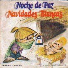 Discos de vinilo: VILLANCICOS,NOCHE DE PAZ,NAVIDADES BLANCAS,COLEGIO SAN ANTONIO,MOVIEPLAY 1972,ILUSTRACION M.RUEDA. Lote 46455953