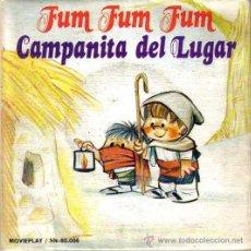 Discos de vinilo: VILLANCICOS,FUM FUM FUM,CAMPANITA DEL LUGAR,COLEGIO SAN ANTONIO,MOVIEPLAY 1972,ILUSTRACION M.RUEDA. Lote 46455980