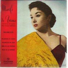 Discos de vinilo: MARIFE DE TRIANA EP COLUMBIA 1960 VILLANCICOS DE MARIFE +3 VINILO AMARILLO. Lote 46461180