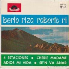 Discos de vinilo: ROBERTO RIZO - CHERIE MADAME - 4 ESTACIONES + 2 - EP SPAIN 1964 EX / EX. Lote 46466241