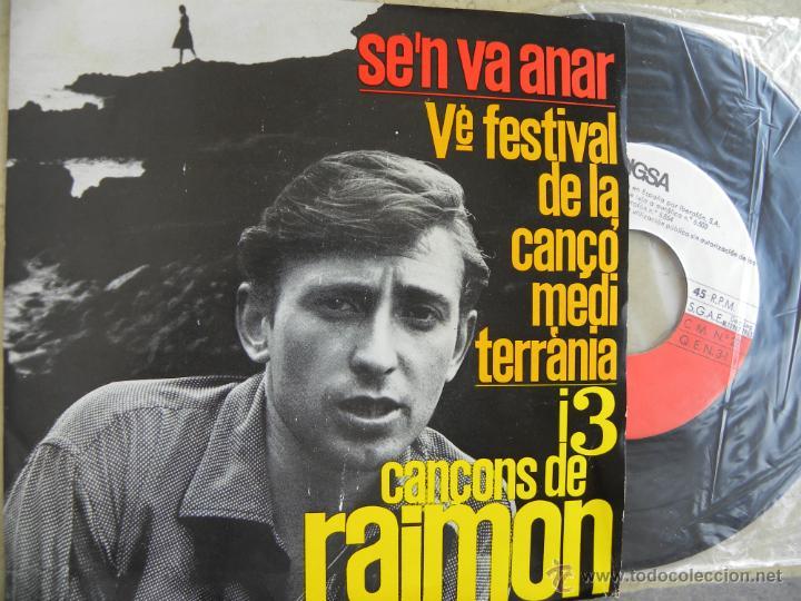 RAIMON -S'EN VA ANAR -EP 1963 -BUEN ESTADO (Música - Discos de Vinilo - EPs - Cantautores Españoles)