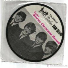 Discos de vinilo: THE BEATLES ANOTHER CHRISTMAS RECORD, OFICIAL CLUB DE FANS 1964 PICTURE DISC. Lote 131415145