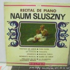 Discos de vinilo: NAUM SLUSZNY - RECITAL DE PIANO - BELTER 1967. Lote 46486652