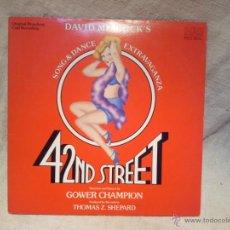 Discos de vinilo: DAVID MERRICK'S ( SONG & DANCE EXTRAVAGANZA ) ''42ND STREET'' USA-1980 LP33. Lote 46488197