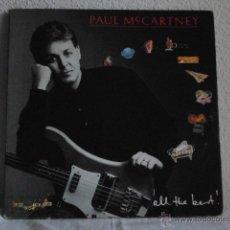 Discos de vinilo: PAUL MCCARTNEY-ALL THE BEST-LP DOBLE 1986-EDICION BRASILEÑA. Lote 46490877