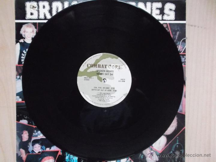 Discos de vinilo: BROKEN BONES NEVER SAY DIE 1986 PUNK - Foto 3 - 46497511