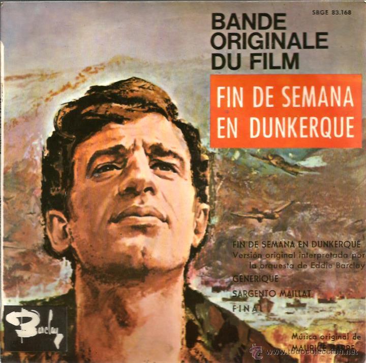 EP EDDIE BARCLAY & MAURICE JARRE : FIN DE SEMANA EN DUNKERQUE (Música - Discos de Vinilo - EPs - Bandas Sonoras y Actores)