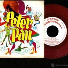 Discos de vinilo: SG TEATRO INVISIBLE DE RNE: PETER PAN ( MUSICA DE LUIS DE PABLO Y ARREGLOS DE PEPE NIETO ) . Lote 46502528