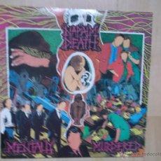 Discos de vinilo: NAPALM DEATH - MENTALLY MURDERED 1989 MOSH 14T EARACHE EDCION INGLESA. Lote 46502854