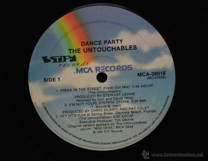 Discos de vinilo: vinilo ska - THE UNTOUCHABLES - DANCE PARTY - Foto 3 - 46506790