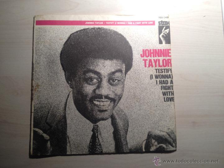 JOHNNIE TAYLOR - TESTIFY - STAX -1969 - FRANCIA (Música - Discos de Vinilo - EPs - Funk, Soul y Black Music)