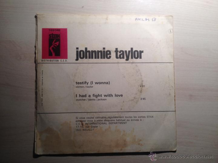 Discos de vinilo: JOHNNIE TAYLOR - TESTIFY - STAX -1969 - FRANCIA - Foto 2 - 46511391