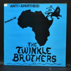 Discos de vinilo: ANTI-APARTHEID - THE TWINKLE BROTHERS - PROTESTS HIT. Lote 46518073