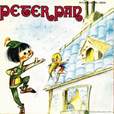 Discos de vinilo: PETER PAN (CUENTO) SINGLE 1970 VINILO ROJO + LIBRETO SPAIN. Lote 46524435