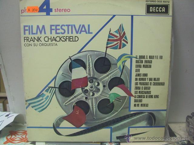 FRANK CHACKSFIELD - FILM FESTIVAL - EDICION ESPAÑOLA - DECCA 1975 (Música - Discos - LP Vinilo - Orquestas)
