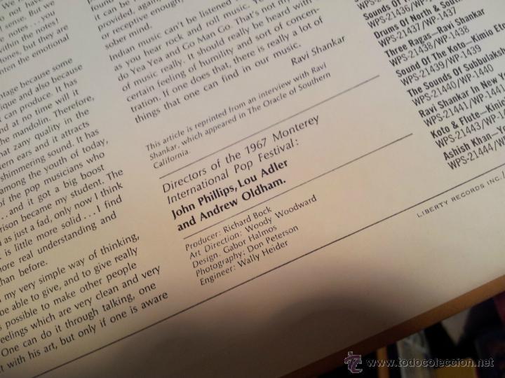 Discos de vinilo: Ravi Shankar - Live At The Monterey International Pop Festival. los angeles 1967 - Foto 6 - 46532269