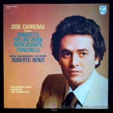 Discos de vinilo: JOSÉ CARRERAS - ROYAL PHILARMONIC - ROBERTO BENZI - DONIZETTI, VERDI, BELLINI, MERCADANTE - 1977 . Lote 46535128