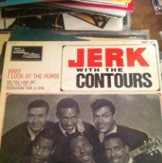 Discos de vinilo: JERK WITH THE COUNTOURS / FIRST I LOOK AT THE PURSE / EDICION FRANCESA / TAMLA MOTOWN 1965. Lote 46542345