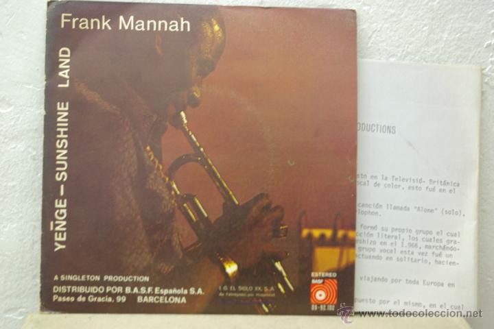 FRANK MANNAH-YENGE-SHUNSHINE LAND- (Música - Discos - Singles Vinilo - Étnicas y Músicas del Mundo)