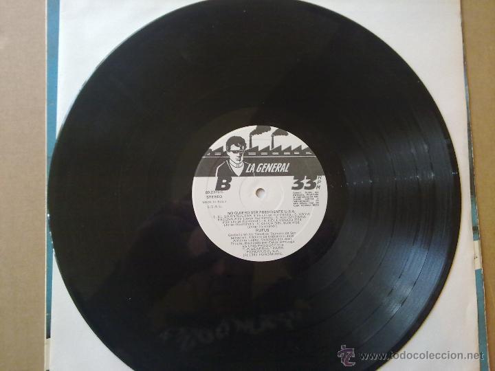 Discos de vinilo: Rufus - No quiero ser presidente U.S.A. - 1985 - Encarte - Spain - VG+/VG - Foto 6 - 46569717