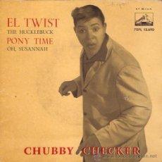 Discos de vinilo: EP EDITADO EN ESPAÑA 1962 CHUBBY CHECKER EL TWIST. Lote 46574812