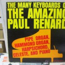 Discos de vinilo: PAUL RENARD - THE MANY KEYBOARDS OF THE AMAZING... - ORIGINAL U.S.A. - RIVERSIDE. Lote 46577593