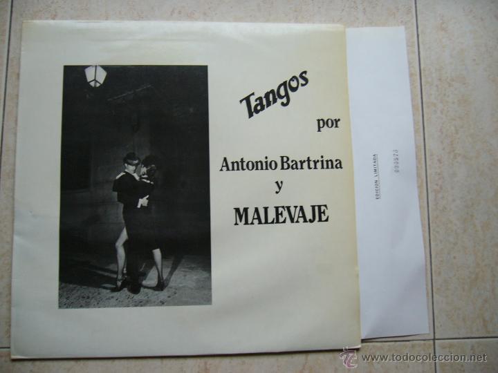 TANGOS POR ANTONIO BARTRINA Y MALEVAJE (Música - Discos - LP Vinilo - Grupos Españoles de los 70 y 80)