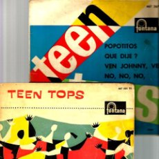 Discos de vinilo: 2 EP´S DE LOS TEEN TOPS : ROCK ( REY CRIOLLO + 3) + POPOTITOS + 3. Lote 46579551