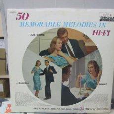 Discos de vinilo: JACK PLEIS ORCHESTRA - 50 MEMORABLE MELODIES IN HI FI - ORIGINAL U.S.A. - DECCA. Lote 46579888