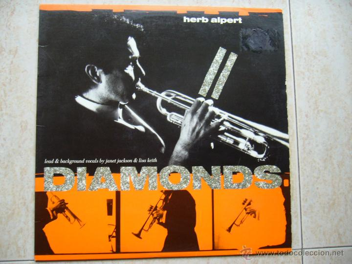 HERB ALPERT - DIAMONDS (Música - Discos de Vinilo - Maxi Singles - Jazz, Jazz-Rock, Blues y R&B)